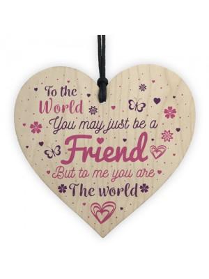 Friendship Gifts Quote Handmade Wooden Heart Best Friend Gift
