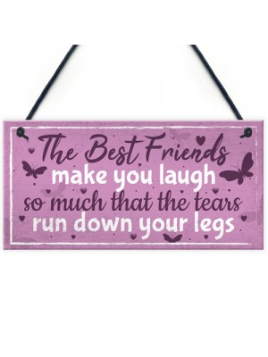 Best Friend Birthday Gift THANK YOU Hanging Plaque Friendship