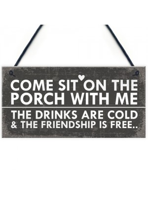 Sit On The Porch Shabby Chic Wall Signs Garden Shed Plaques