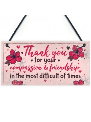 Thank You Friendship Gift Best Friend Sign Birthday Christmas