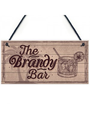 Vintage Shabby Chic Bar Sign Brandy Plaque Home Bar Wedding Gift