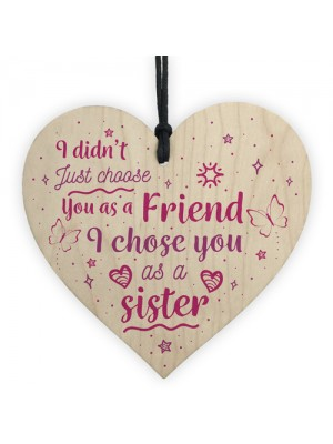 Special FRIEND Sister Gifts Wood Heart Christmas Friendship Gift