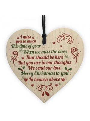 Christmas Gift Memorial Tree Hanging Decoration Mum Dad Sign