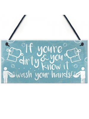 Nautical Wash Your Hands Quirky Bathroom Signs Funny Loo Plaque