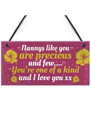 Special Gifts for Nanny Nan Granny Hanging Plaque Sign Birthday