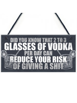 Funny Alcohol Gift Home Bar Sign Vodka Garden Pub Shed Plaque