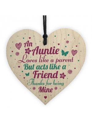 Auntie Gifts Friendship Sister Birthday Gifts Wooden Heart Sign