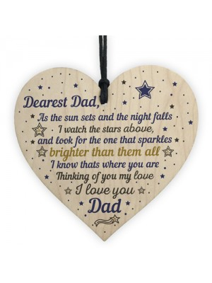 Dad Memorial Plaque Birthday Christmas Tree Decoration Wood Gift
