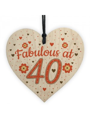 Fabulous At 40 50th 40th 60th Birthday Gifts For Women Men Heart