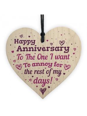 Handmade Wedding Anniversary Wood Heart Plaque Gift For Him Her