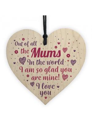 Mothers Day Mum Birthday Christmas Gift Shabby Chic Wooden Heart