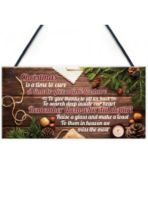 Christmas Memorial Tree Decoration Hanging Bauble Plaque