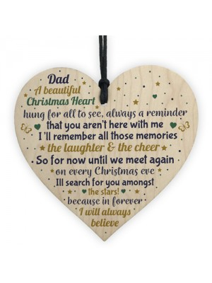 CHRISTMAS Tree Decoration In Memory Of Dad Memorial Wood Gift