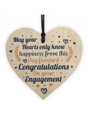 Engagement Congratulations Gift Handmade Wood Heart Wedding Gift