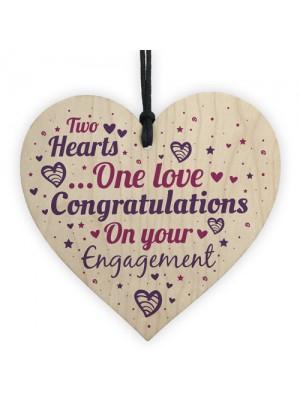 Engagement Gift Keepsake Wooden Heart Plaque Wedding Mr & Mrs