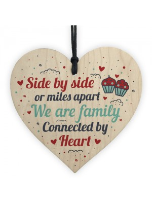 Family Gifts Mum Dad Brother Sister Wooden Heart Christmas Gift