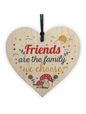 Handmade Friendship Gift Wood Heart Plaque Best Friend Family
