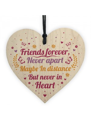 Friends Forever Handmade Wood Heart Sign Friendship Best Friend