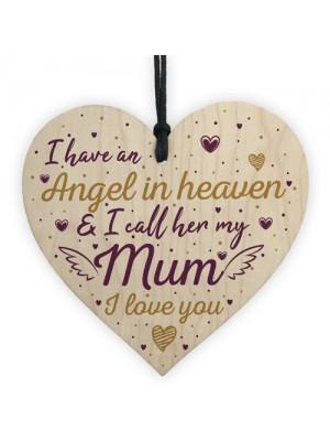 Special Mum Heart Shaped Wooden Memorial Grave Plaque Xmas