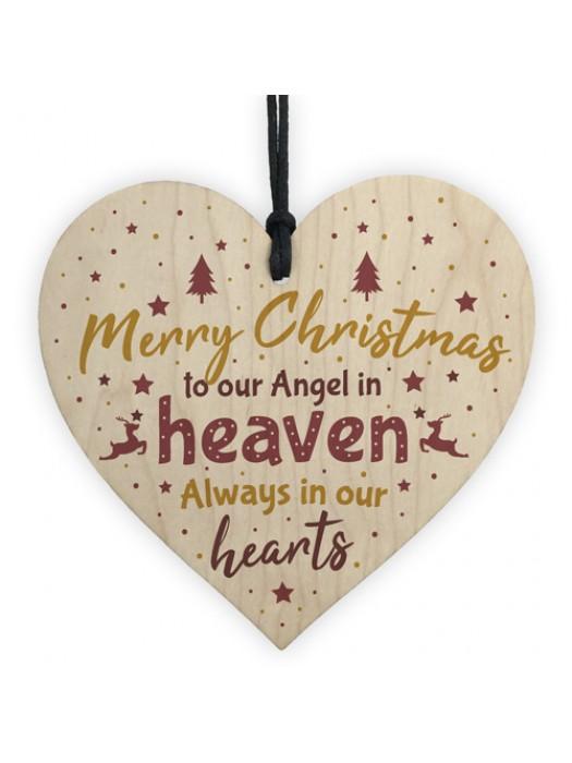 Christmas In Heaven Heart In Memory Dad Mum Memorial Xmas Tree