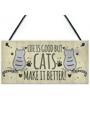 Funny Cat Signs For Home Cat House Wall Plaque Sign Xmas Gift