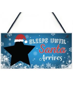 Kids Countdown To Christmas Decoration Board Sleeps Till Santa