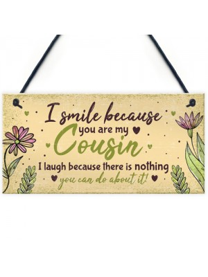 Birthday Gifts For Cousins Hanging Family Plaque Funny Thank You