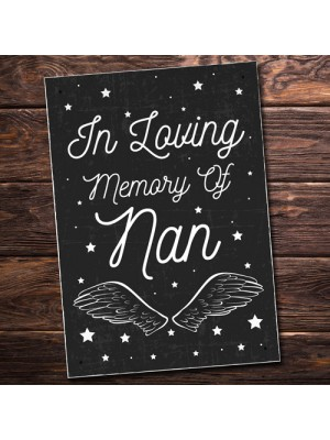 Christmas In Memory Of NAN Nanny Angel Grave Memorial Plaque
