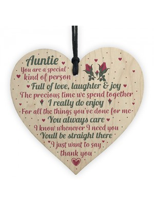Special Sister Auntie Wood Plaque Sign Birthday Thank You Gifts