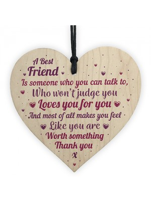 Thank You Gift For Best FRIEND Heart Christmas Friendship Gift