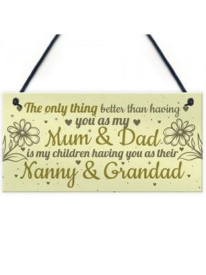 Mum Dad Nanny Grandad Hanging Plaque Son Daughter Gift