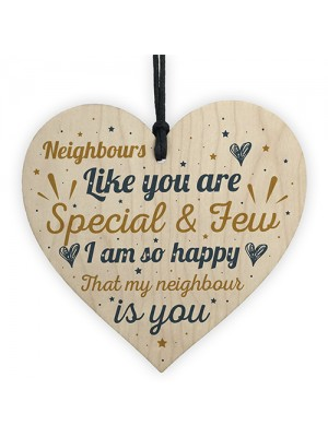 Thank You Neighbour Gift Wooden Heart Plaque Friendship Gift