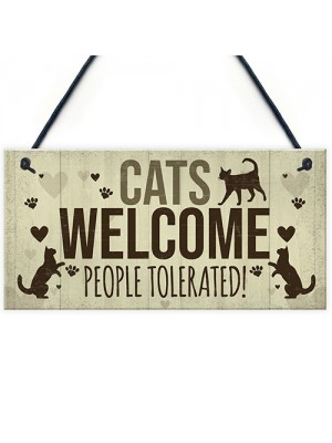 Cat Signs For Home Funny Cat House Sign Gate Door Plaque Gifts
