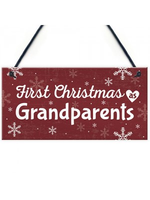 First 1st Christmas As Grandparents Plaque Xmas Gift For NAN