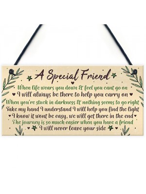 Motivational Inspirational Plaque Friendship FRIEND Thank You