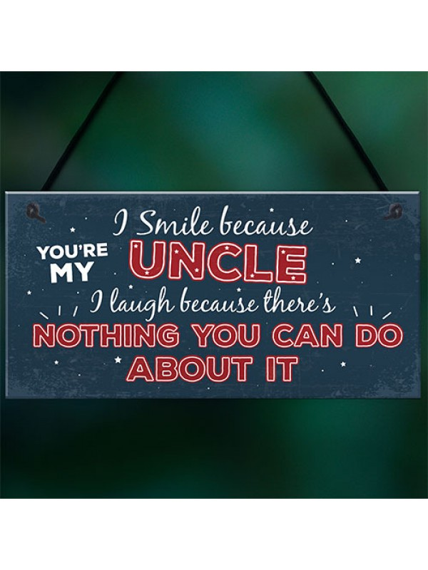 Funny Uncle Birthday Gifts Presents Hanging Plaque Keepsake Gift