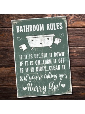 Chic Nautical Bathroom Sign Funny Quirky Toilet Loo Door Plaque