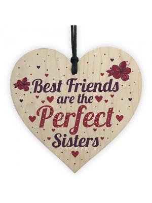 BEST FRIEND SISTER Plaque Thank You Gift Heart Keepsake Gift