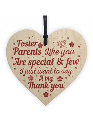 Foster Parent Family Gifts Wooden Heart Sign Thank You Keepsake