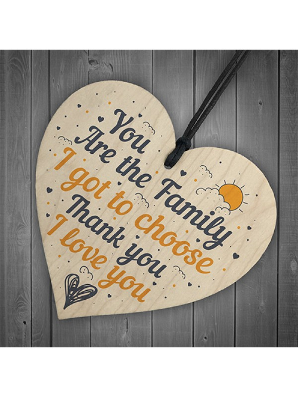 Best Friend Family Friendship Gift Wooden Heart Sign Birthday