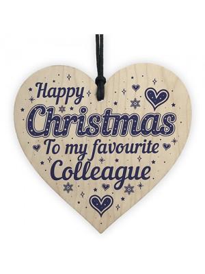 Colleague Christmas Secret Santa Gifts Wood Heart Friendship