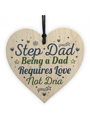 Step Dad Daddy Gifts Christmas Birthday Wooden Heart Plaque Sign