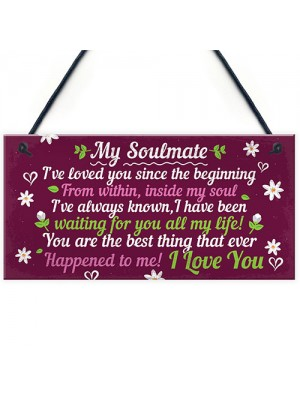 Soulmate Gifts For Him Her Plaque Anniversary Gift Wife Husband