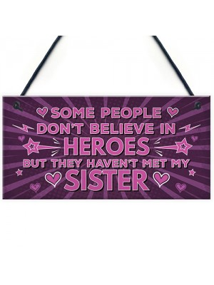 Funny Best Friend SISTER Hanging Plaque Friendship Birthday Gift