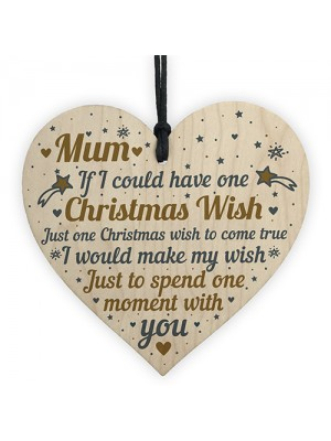 Mum Christmas Memorial Tree Decoration Hanging Wooden Bauble
