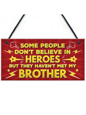 HERO Brother Christmas Birthday Gift Plaque Gift For Big Brother