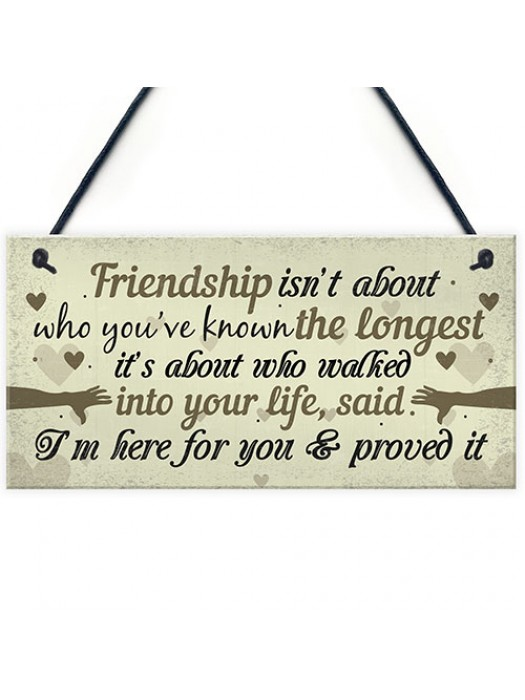 Friendship Plaque Gifts For Women Best Friend Christmas Birthday