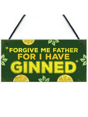 Novelty GIN Plaque Funny Alcohol Sign Home Bar Pub Man Cave Gift