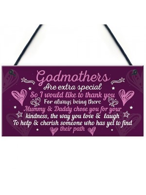 Godmother Gifts For Christmas Godparent Christening Gifts Plaque