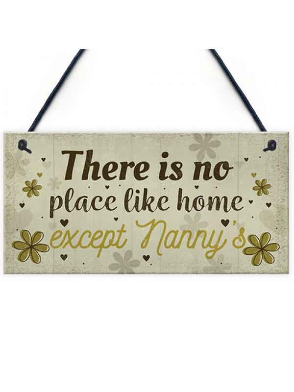 Nanny Nan Christmas Birthday Gifts Hanging Wall Door Plaque Xmas